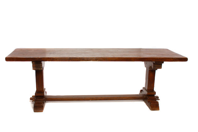 A Baroque style oak refectory table