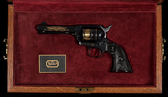 A cased Colt John Wayne commemorative single action army revolver