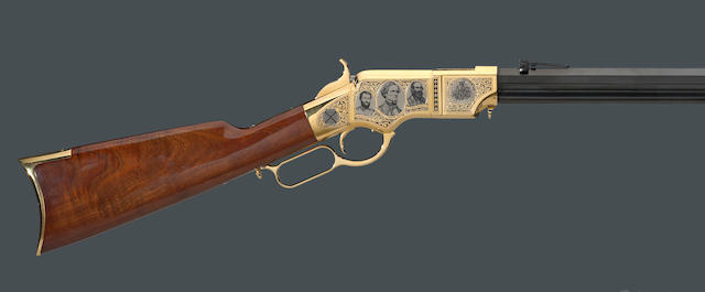 An American Remembers Sons of Confederate Veterans commemorative Henry rifle by Uberti