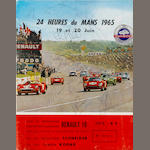 A signed 1965 24 Heures of Du Mans program,