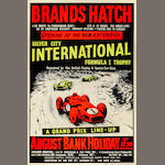 A Brands Hatch Formula 1 Silver City International poster, c.1960s,
