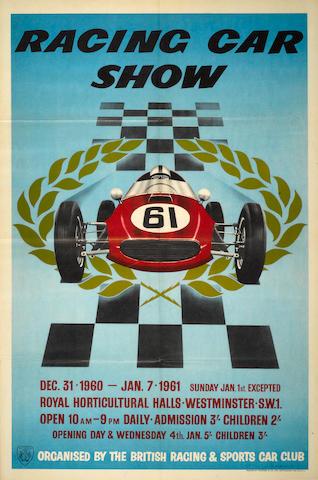 A Racing Car Show Poster, 1961,