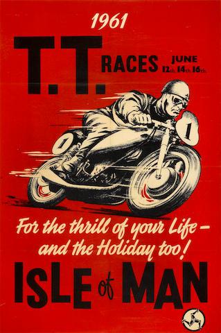 An original 1961 Isle of Man poster,