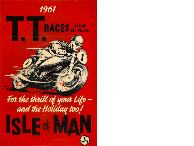An original 1961 Isle of Man poster,