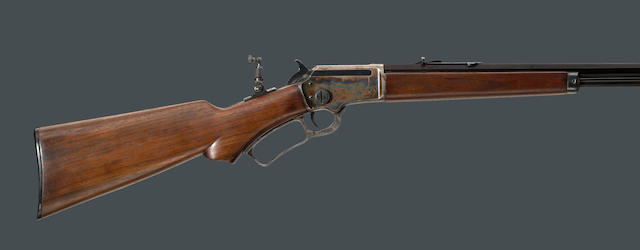 An early Marlin Model 39 lever action rifle with NRA case