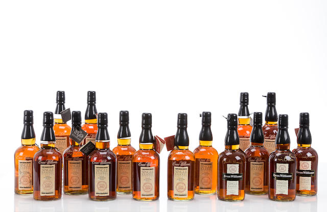 Evan Williams Single Barrel- 17 Vintages Set