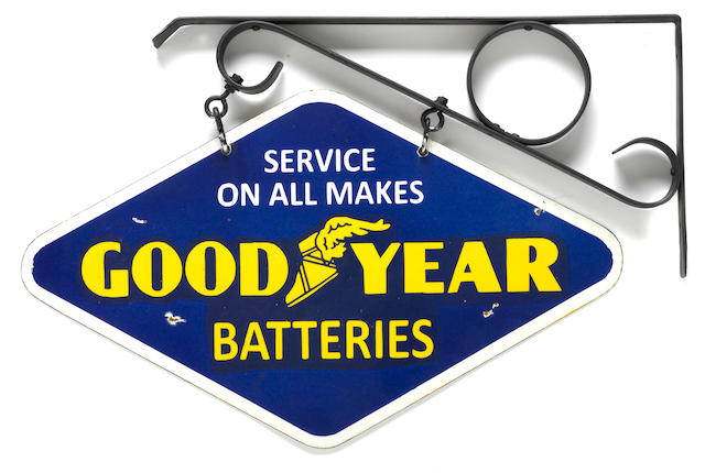 A Goodyear Batteries sign, c. 1920s,