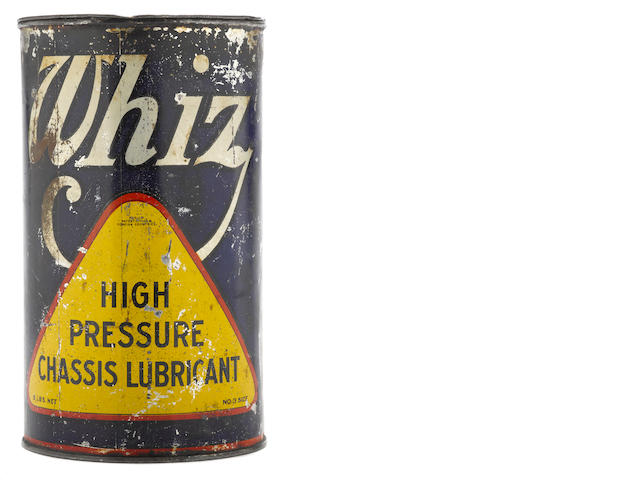 A Whiz high pressure chassis lubricant can,