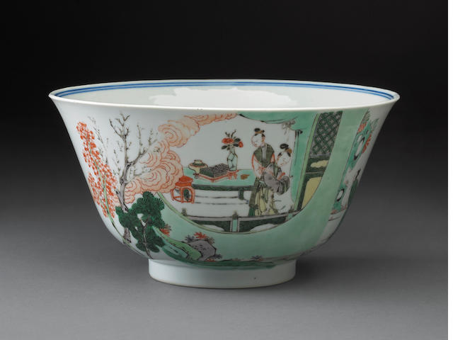 Porcelain bowl with Famille verte