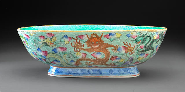 xianfeng period nine dragon ovoid bowl