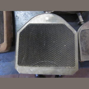 "A honeycomb ""Mercedes"" type radiator believed to be for a Series 51 Pierce Arrow."