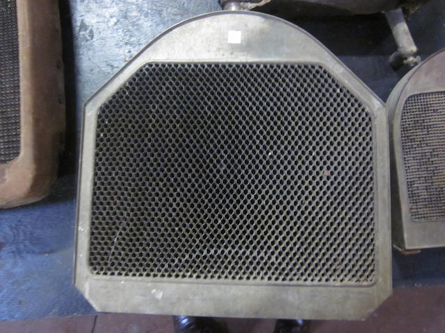 """A honeycomb """"Mercedes"""" type radiator believed to be for a Series 51 Pierce Arrow."""