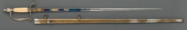 A rare militia infantry officer's sword retailed by Horstmann & Sons, Philadelphia