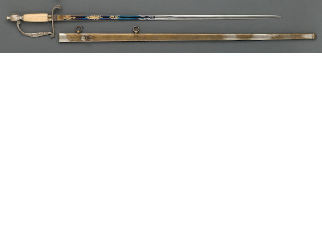 A rare militia infantry officer's sword retailed by Horstmann & Sons, Philadelphia
