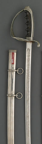 A U.S. Model 1902 saber for all officers inscribed to General Samuel C. Park, Utah National Guard