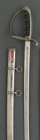 A U.S. Model 1902 saber for all officers inscribed to General Samuel C. Park, Utah National Guard