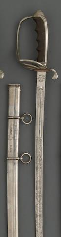 A presentation U.S. Model 1902 saber for all officers