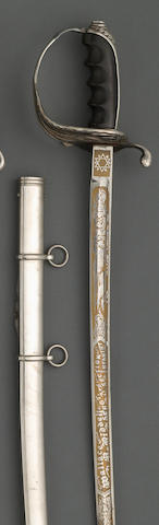 A deluxe silver-mounted presentation U.S. Model 1902 saber for all officers