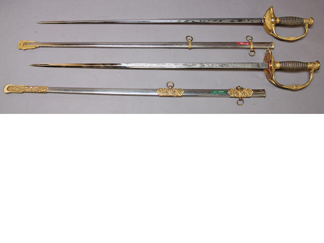 A lot of two U.S. Model 1860 staff & field officer's swords