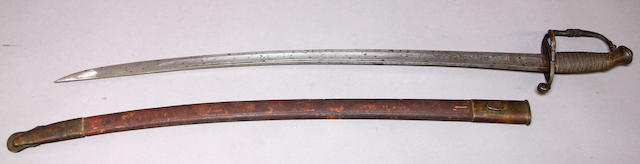 A Civil War era non-regulation light infantry officer's saber retailed by W.H. Horstmann & Sons