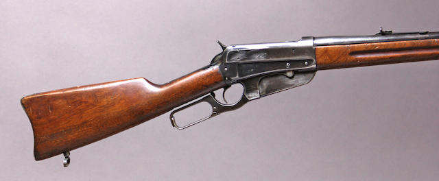 A Winchester Model 1895 lever action carbine