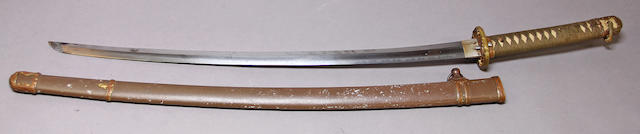 A Japanese shin-gunto officer's sword