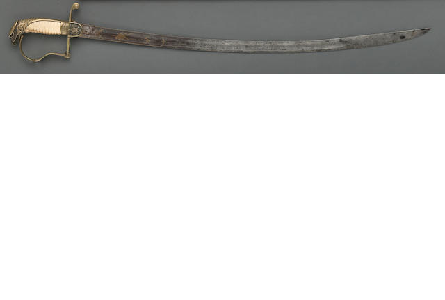 An American eagle pommel infantry officer's saber