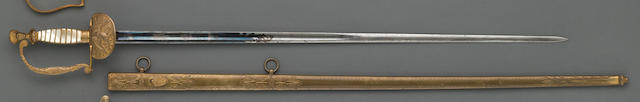 An American militia officer's sword