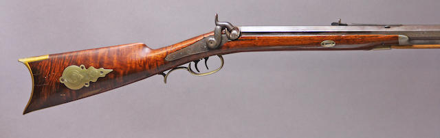 An American half-stock percussion rifle by George Pratt Foster