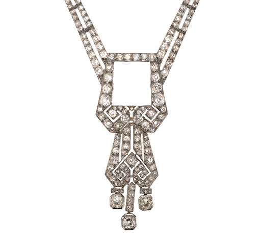 A diamond necklace, French