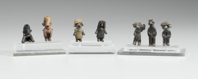 Seven Zacatecas Figurines, Protoclassic, ca. 100 B.C. - A.D. 250