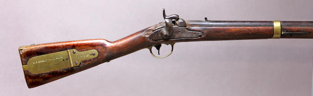 A U.S. Model 1841 percussion rifle by Tryon with interesting Gold Rush-era California markings