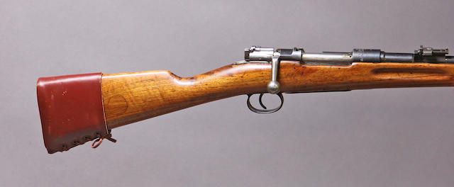 A sporterized Swedish bolt action military carbine