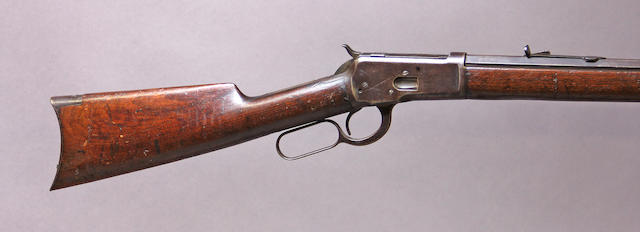 A Winchester Model 1892 lever action rifle