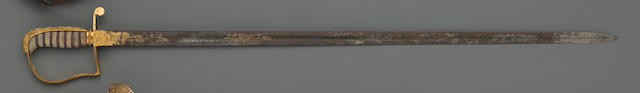 A scarce American naval surgeon's sword retailed by A.W. Spies