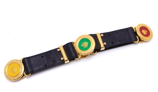 A Gianni Versace 'medusa' belt
