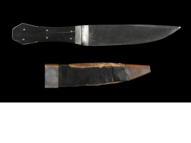 A rare coffin hilt bowie knife by Gravely and Wreaks