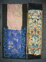 A miscellaneous group of Chinese textile fragments