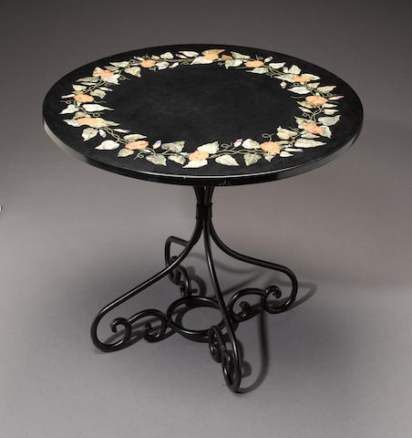 Pietra Dura Tabletop with Stand
