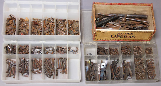 A large lot of 19th and 20th century gun parts