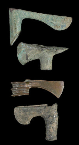 A lot of four Persian Bronze Age axe heads