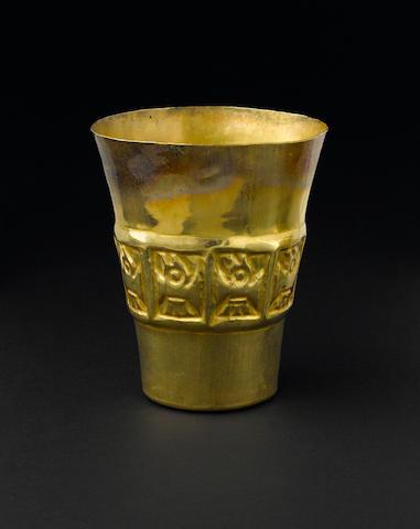 Sicán Gold Beaker,<BR />ca. A.D. 950 - 1250
