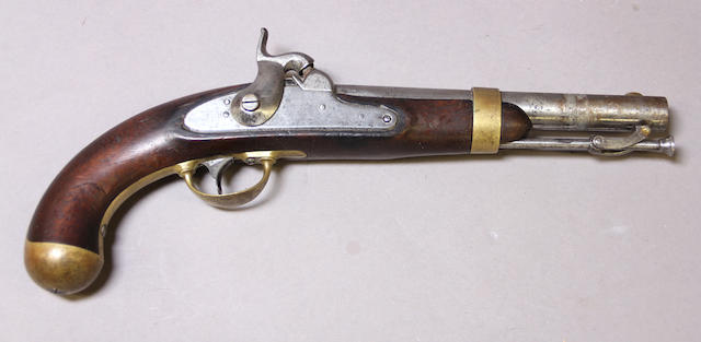 A U.S Model 1842 percussion pistol by Johnson