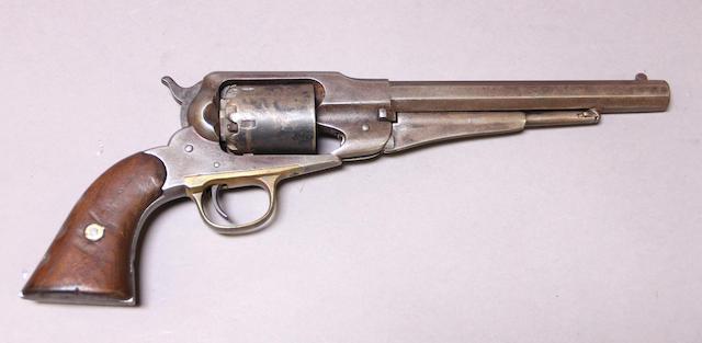 A U.S. Remington New Model Army percussion revolver