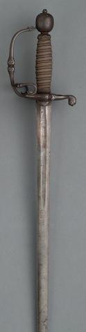 An English officer's sword