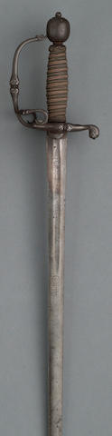 An English officer's sword
