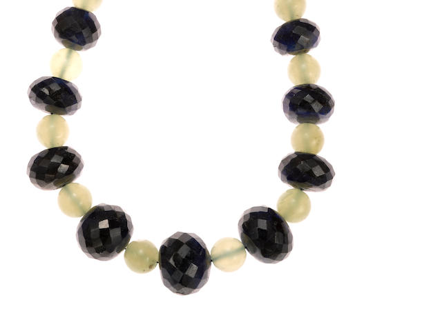 Sapphire bead necklace