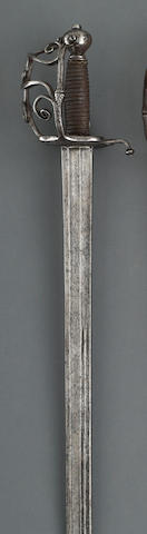 An officer's walloon hilted broadsword