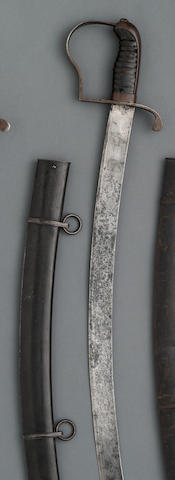 A scarce U.S. Model 1812 cavalry saber by W. Rose