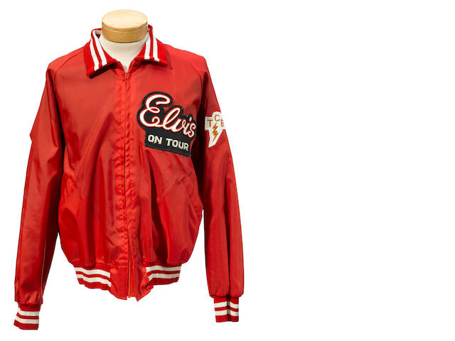 An Elvis Presley tour jacket from his last special tour